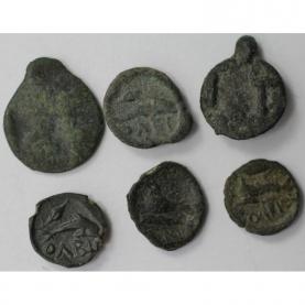 Lot von 6 Münzen 420 - 400 v.Chr revers