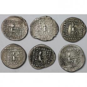 Lot von 6 Münzen 123 v. Chr - 51 n. Chr revers