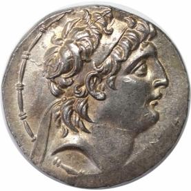 AR Tetradrachme 139/129 v. Chr avers