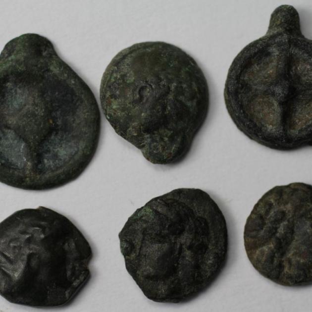 Lot von 6 Münzen 420 - 400 v.Chr avers