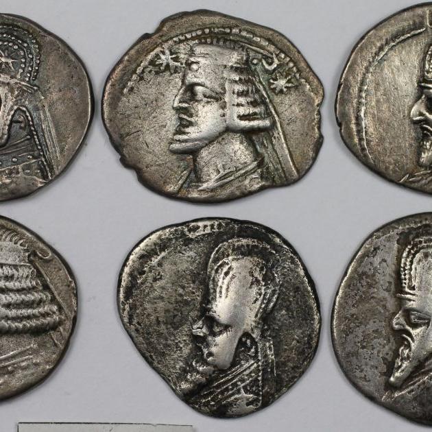 Lot von 6 Münzen 123 v. Chr - 51 n. Chr avers