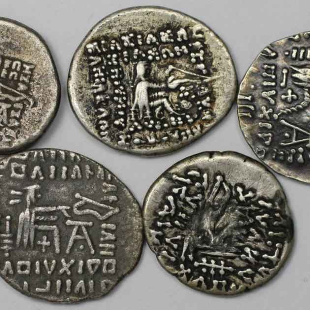 Lot von 5 Münzen 123 v. Chr - 628 n. Chr revers