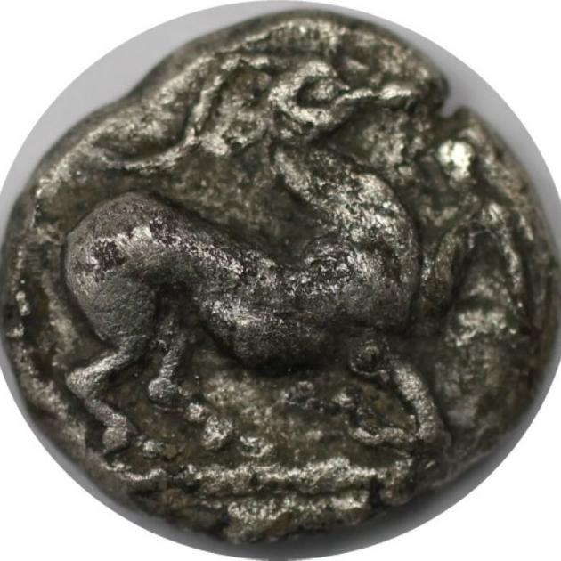 Trihemiobol 480 v. Chr avers
