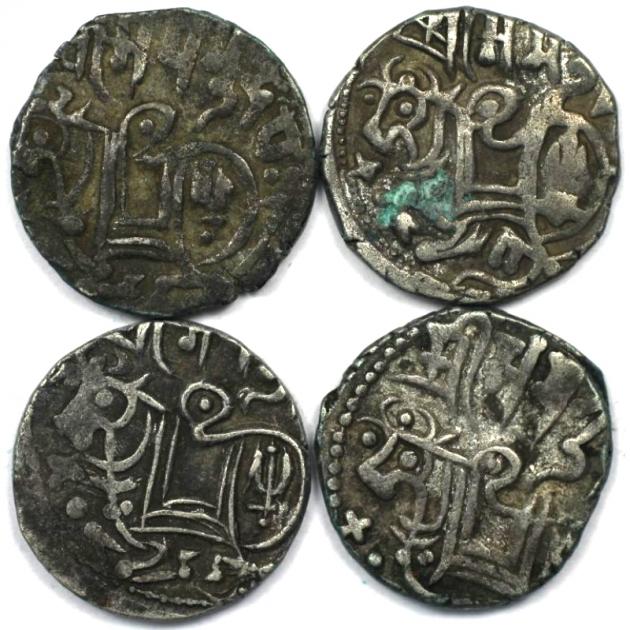 Lot von 4 Münzen 903 - 915 n. Chr avers