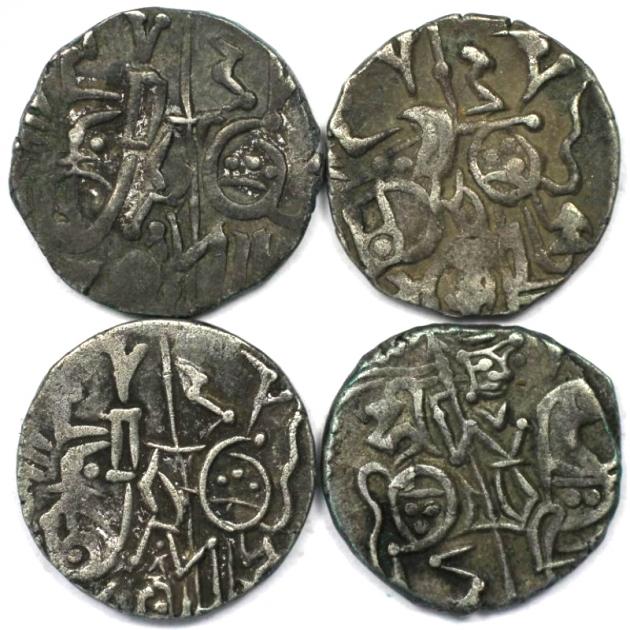 Lot von 4 Münzen 903 - 915 n. Chr revers