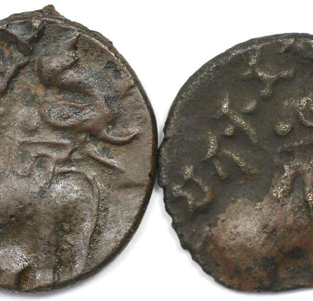 Lot von 2 Münzen 30 v. Chr. - 107 n. Chr avers