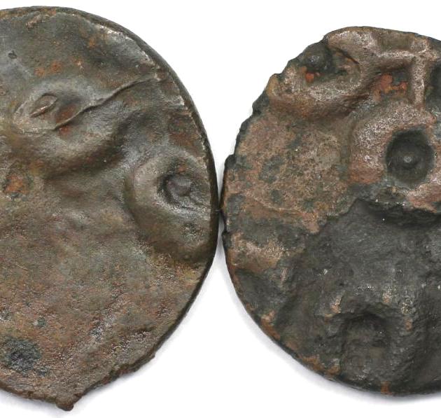 Lot von 2 Münzen 30 v. Chr. - 107 n. Chr revers