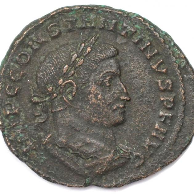 Follis 307-308 n. Chr avers