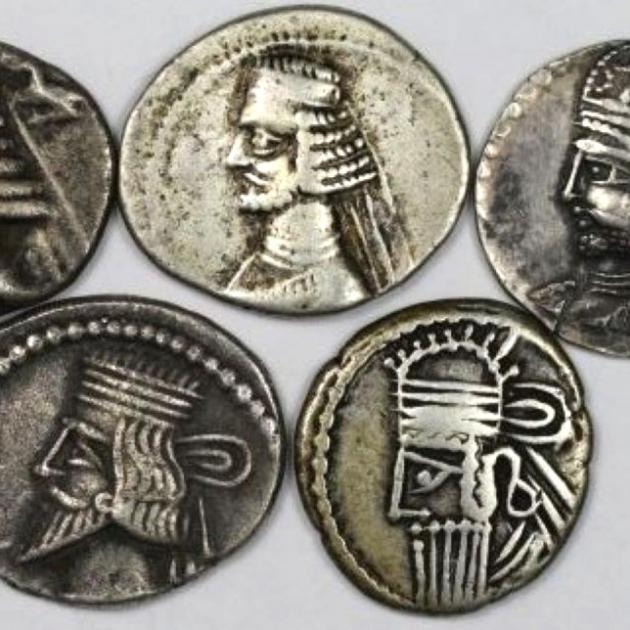 Lot von 5 Münzen 123 v. Chr - 628 n. Chr avers